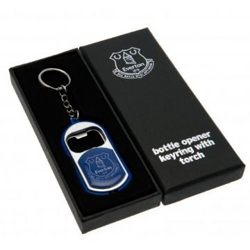 Everton Bottle Opener Keyring with Torch